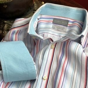 Thomas Dean size L button up shirt long sleeve